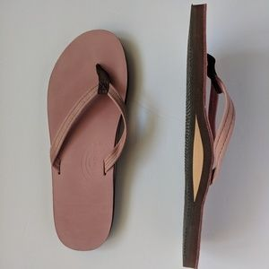 Like New Rainbow Double Layer Leather Flip Flop